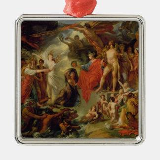 The Triumph of Civilization, c.1794-98 Square Metal Christmas Ornament