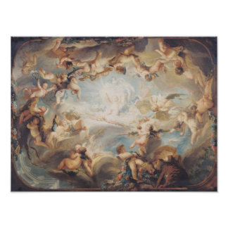 The Triumph of Cupid over all the Gods, 1752 Poster