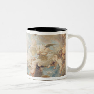 The Triumph of Cupid over all the Gods, 1752 Two-Tone Coffee Mug