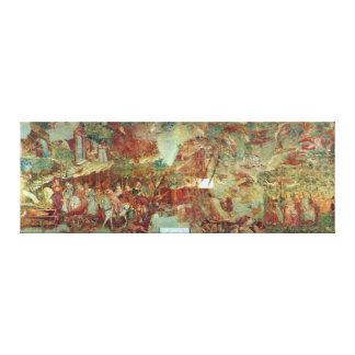 The Triumph of Death by Buonamico Buffalmacco Canvas Print
