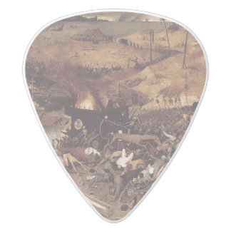 The Triumph of Death by Peter Bruegel White Delrin Guitar Pick