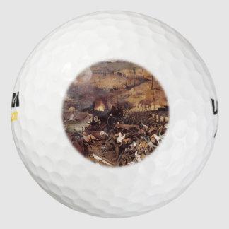The Triumph of Death by Peter Bruegel Pack Of Golf Balls