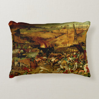 The Triumph of Death, c.1562 (oil on panel) Decorative Pillow