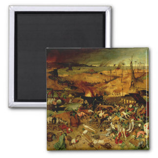 The Triumph of Death, c.1562 (oil on panel) 2 Inch Square Magnet