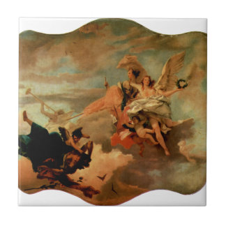 The Triumph of Fortitude and Sapiency by Giovanni Ceramic Tile