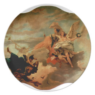 The Triumph of Fortitude and Sapiency by Giovanni Melamine Plate