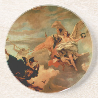 The Triumph of Fortitude and Sapiency by Giovanni Sandstone Coaster