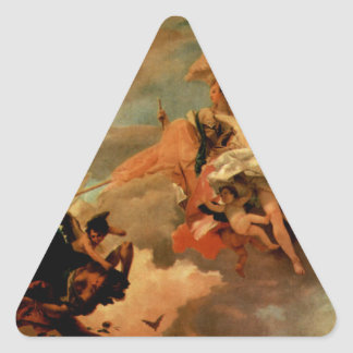 The Triumph of Fortitude and Sapiency by Giovanni Triangle Sticker