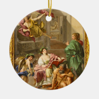 The Triumph of History over Time by Anton R Mengs Ceramic Ornament