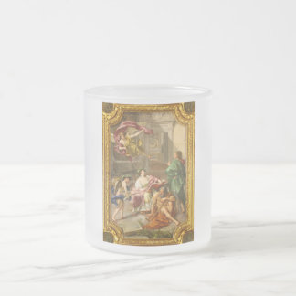The Triumph of History over Time by Anton R Mengs Frosted Glass Coffee Mug