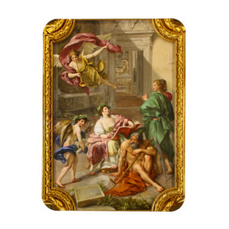 The Triumph of History over Time by Anton R Mengs Rectangular Photo Magnet
