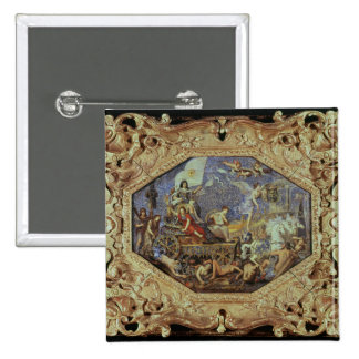 The Triumph of Louis XIII  over Enemies 2 Inch Square Button