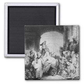 The Triumph of Mordecai, c.1640 2 Inch Square Magnet