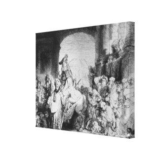The Triumph of Mordecai, c.1640 Canvas Print