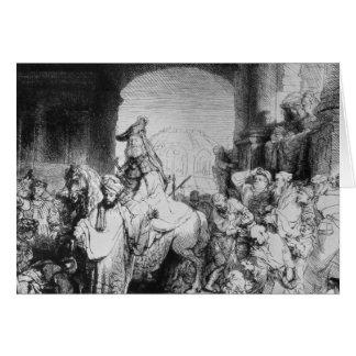 The Triumph of Mordecai, c.1640 Card