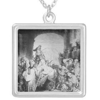 The Triumph of Mordecai, c.1640 Silver Plated Necklace