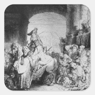 The Triumph of Mordecai, c.1640 Square Sticker