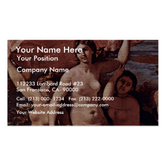 The Triumph Of Neptune The Baccanale Richelieu Business Card Template