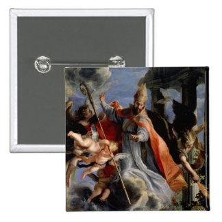 The Triumph of St. Augustine  1664 Pinback Button