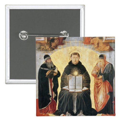 The Triumph of St. Thomas Aquinas Button