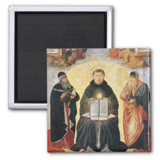 The Triumph of St. Thomas Aquinas 2 Inch Square Magnet
