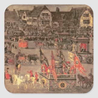 The Triumph of the Archduchess Isabella (1556-1633 Square Sticker