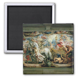 The Triumph of the Church 2 Inch Square Magnet
