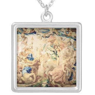 The Triumph of the Eucharist Square Pendant Necklace