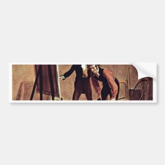 The Triumph Of The Painter By Mount William Sidney Car Bumper Sticker