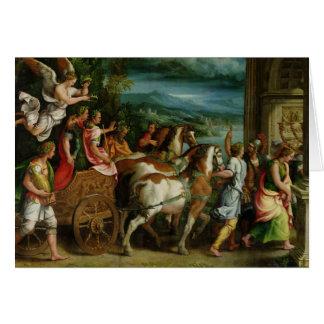 The Triumph of Titus and Vespasian, c.1537 Card
