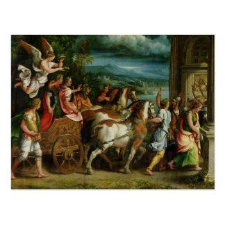 The Triumph of Titus and Vespasian, c.1537 Postcard