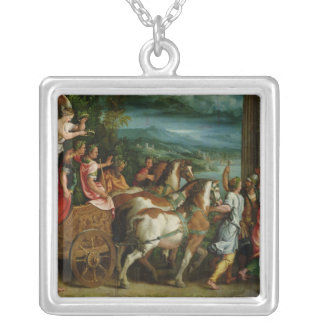 The Triumph of Titus and Vespasian, c.1537 Silver Plated Necklace