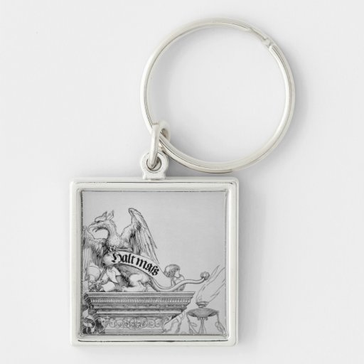 The Triumphal Arch Silver-Colored Square Keychain