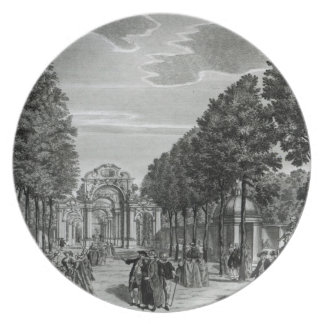 The Triumphal Arches, Handel's Statue in the South Dinner Plate