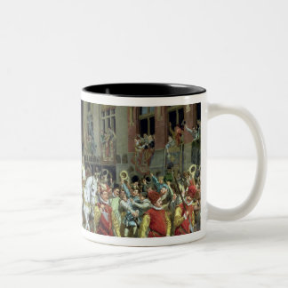 The Triumphal Arrival in Rotterdam Two-Tone Coffee Mug