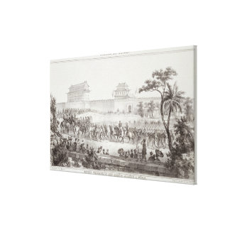 The Triumphal Entry of the Allied Armies into Peki Canvas Print