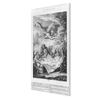 The Troelfth Cake, first partition of Poland Canvas Print