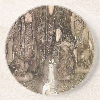 The Trolls and the Princess by John Bauer Sandstone Coaster