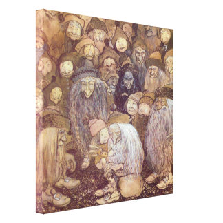 The Trolls and the Youngest Tomte Canvas Print