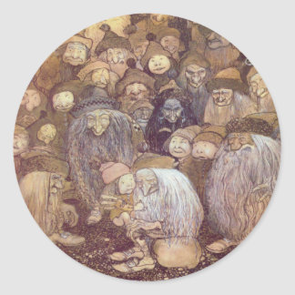 The Trolls and the Youngest Tomte Classic Round Sticker