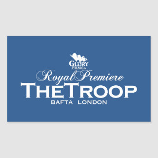 The Troop Royal premiere case sticker BAFTA