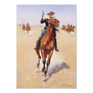 The Trooper by Frederic Remington 5x7 Paper Invitation Card