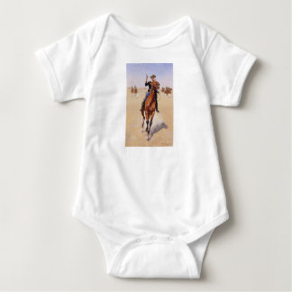 The Trooper by Frederic Remington Baby Bodysuit