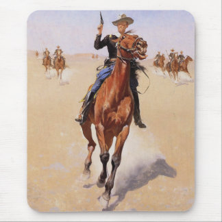 The Trooper by Frederic Remington Mouse Pad