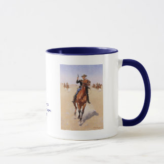 The Trooper by Frederic Remington Mug