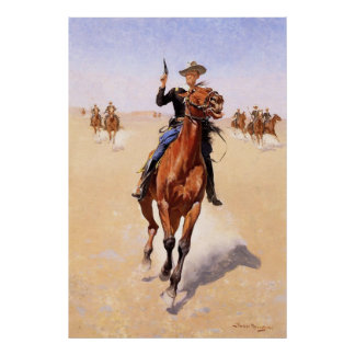 The Trooper by Frederic Remington Poster