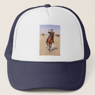 The Trooper by Frederic Remington Trucker Hat