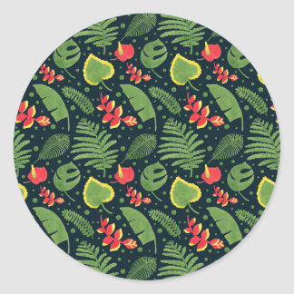 The Tropical Garden Classic Round Sticker