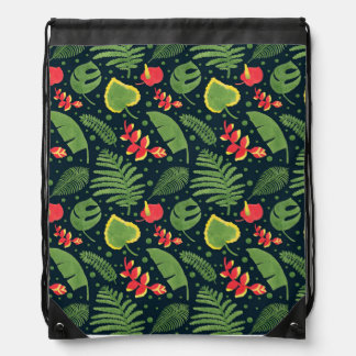 The Tropical Garden Drawstring Backpack