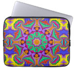 The tropical Kaleidoscope, geometric patterns Laptop Computer Sleeves